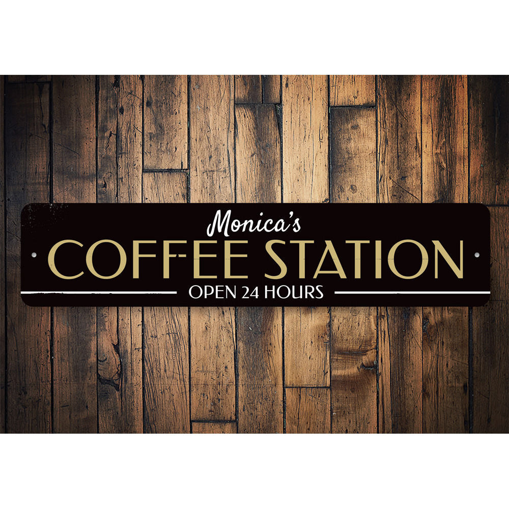 Signs For Coffee Station