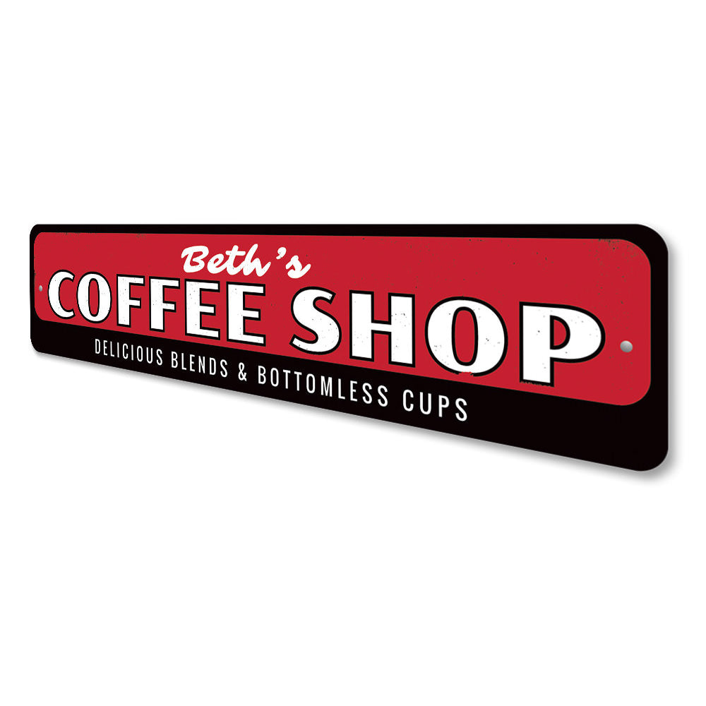 Delicious Blends Coffee Shop Sign Aluminum Sign