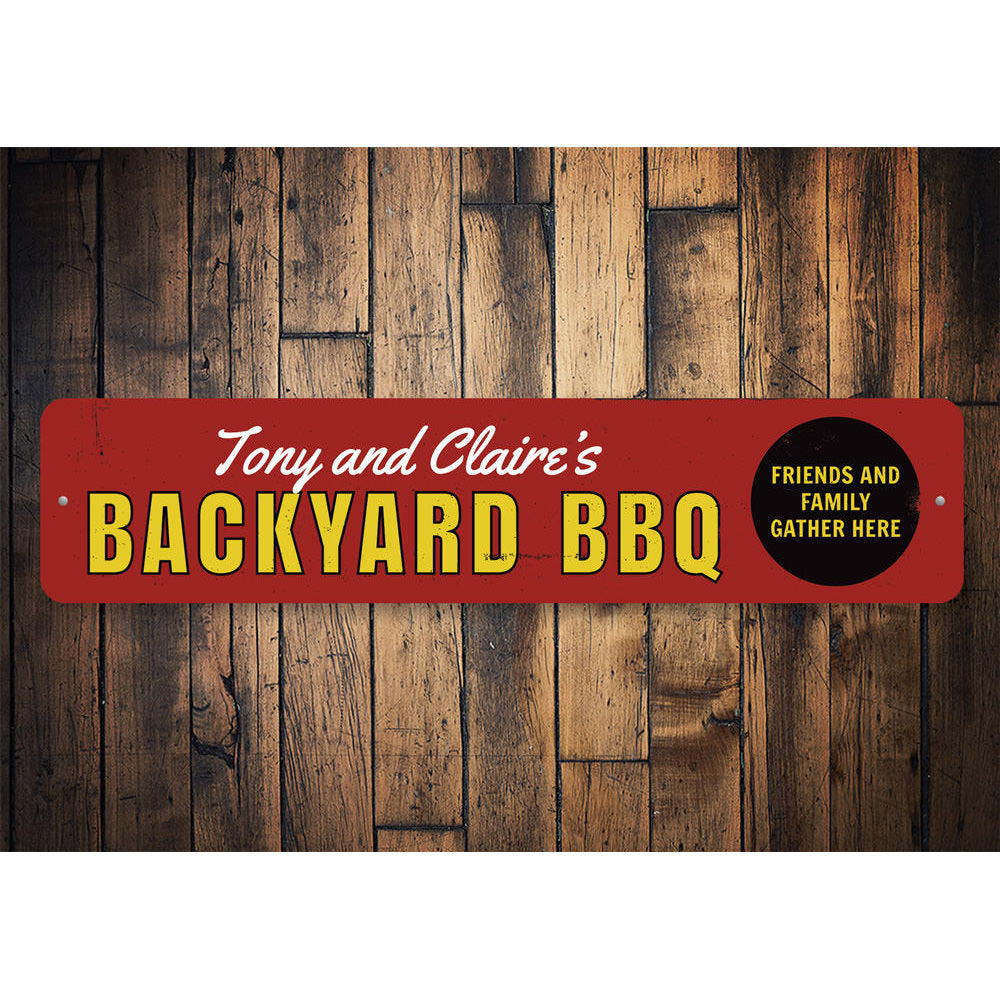 Backyard BBQ Sign Aluminum Sign