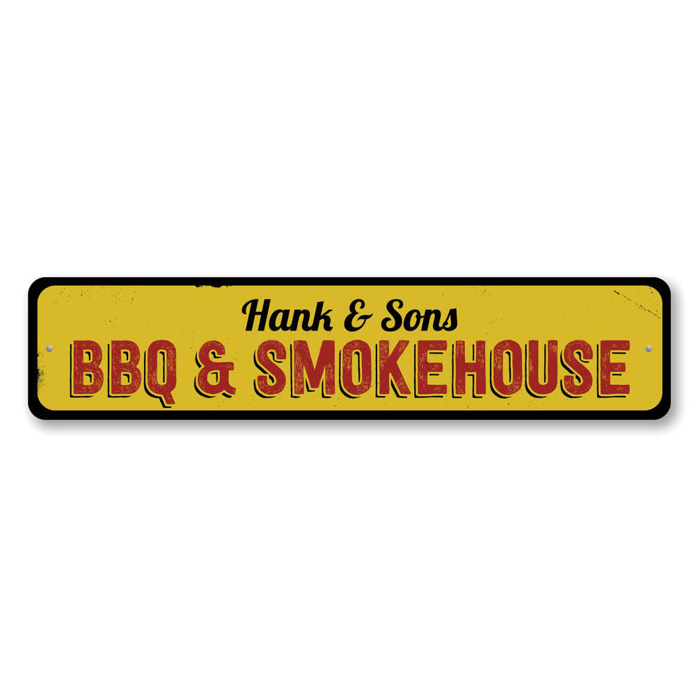 BBQ & Smokehouse Sign Aluminum Sign