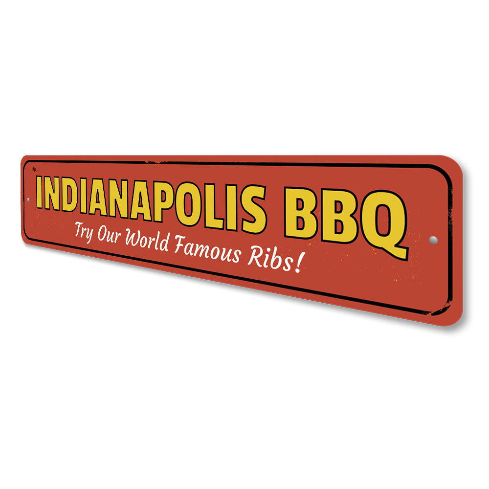 World Famous Ribs Sign Aluminum Sign