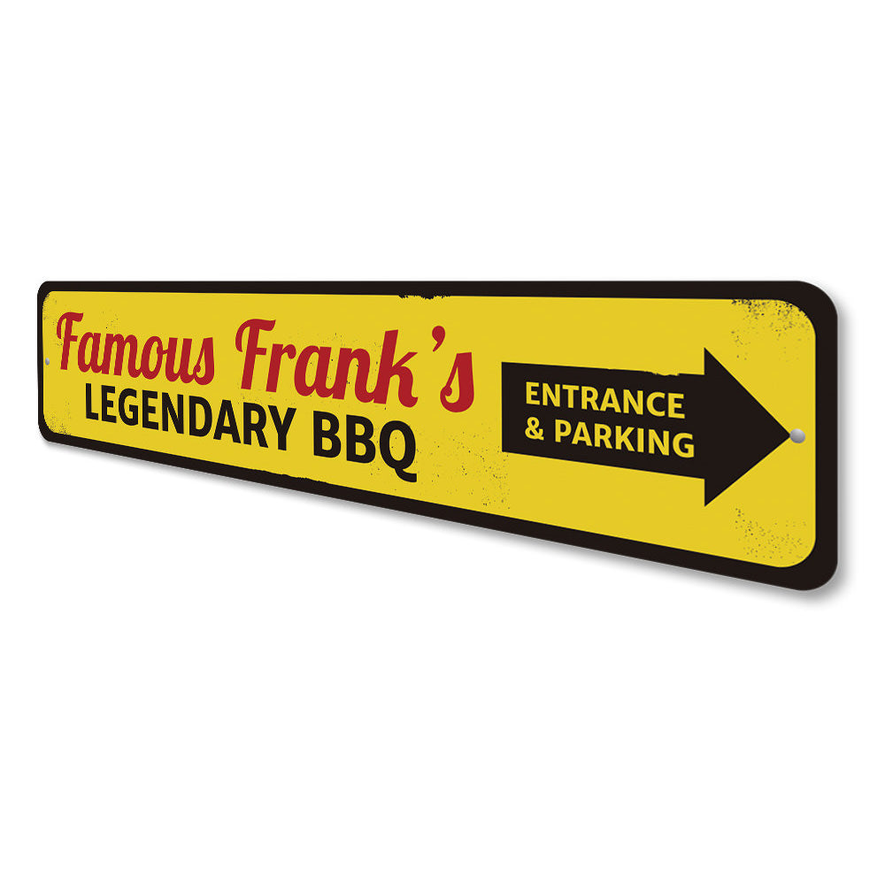 Famous BBQ Sign Aluminum Sign