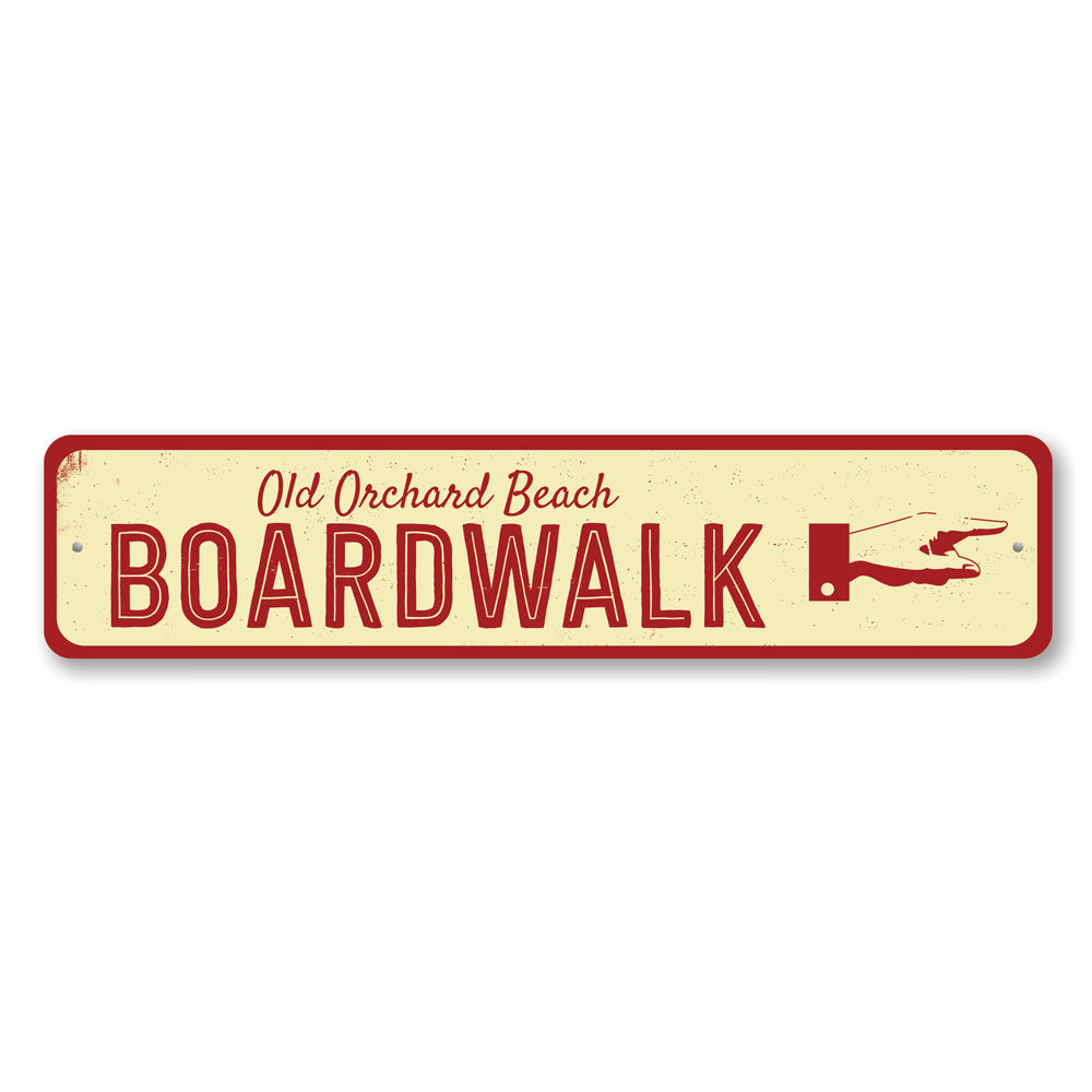 Boardwalk Pointing Hand Sign Aluminum Sign