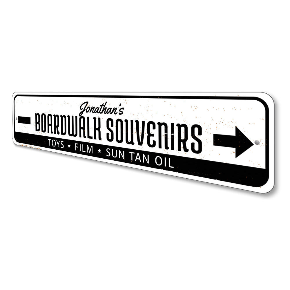 Boardwalk Souvenirs Sign Aluminum Sign