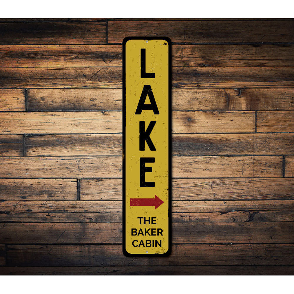 Lake Vertical Sign Aluminum Sign