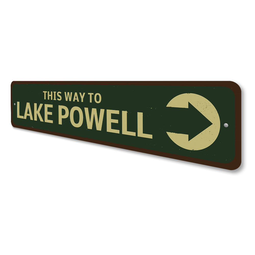 This Way To Lake Sign Aluminum Sign