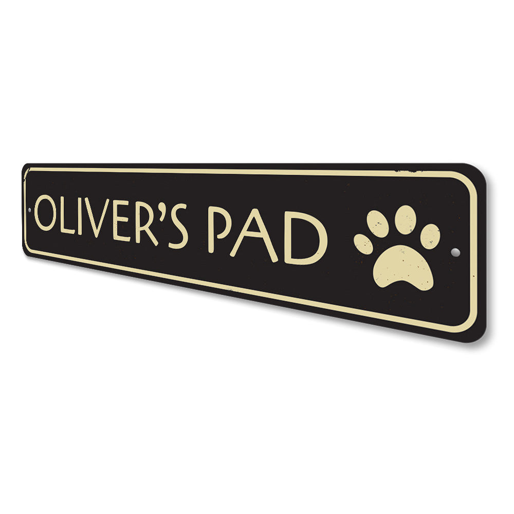 Pet Pad Sign Aluminum Sign