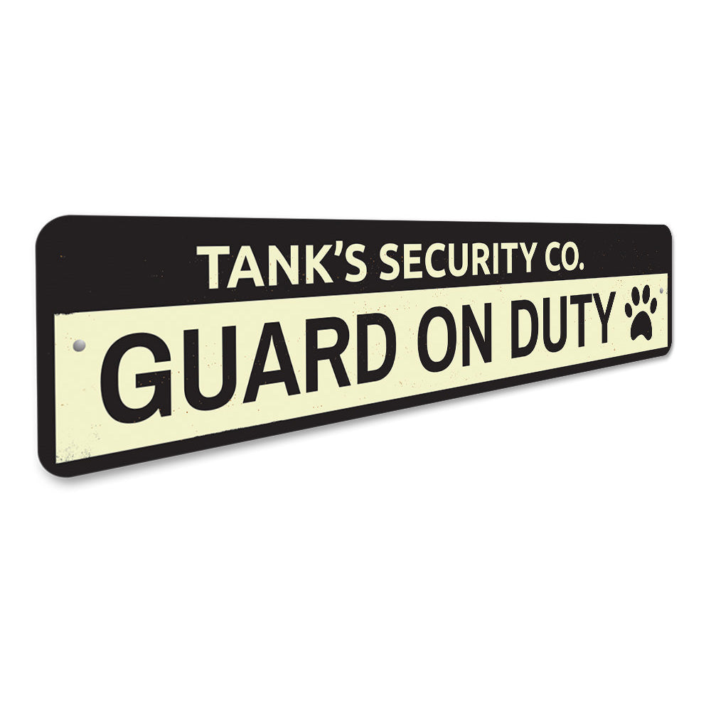 Security Company Pet Sign Aluminum Sign