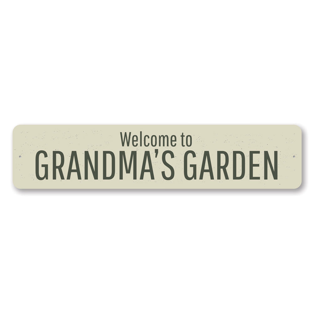 Grandmas Garden Sign Aluminum Sign