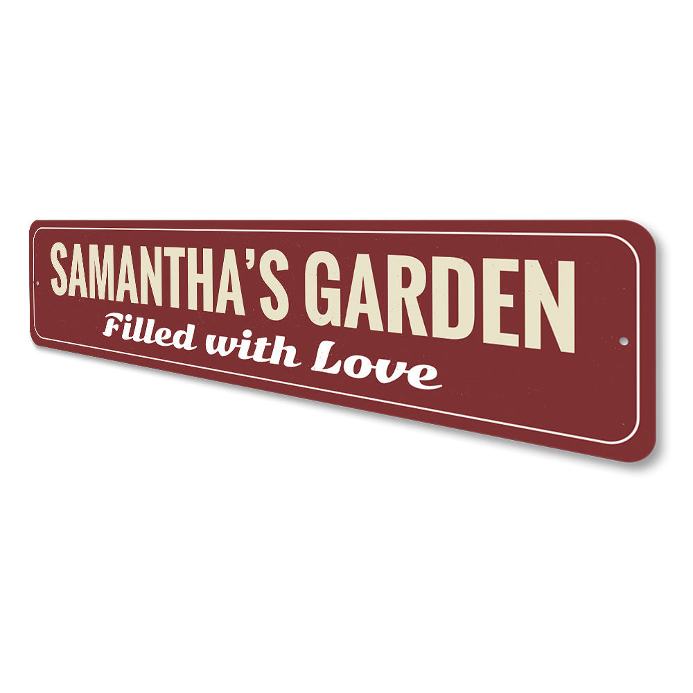 Love Garden Sign Aluminum Sign
