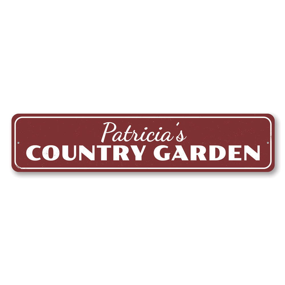 Country Garden Sign Aluminum Sign