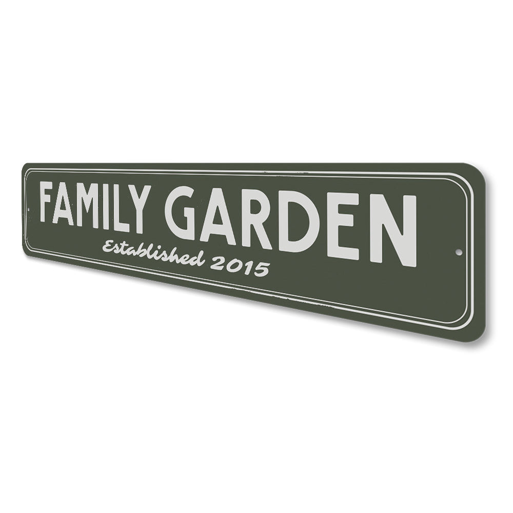 Family Garden Established Date Sign Aluminum Sign