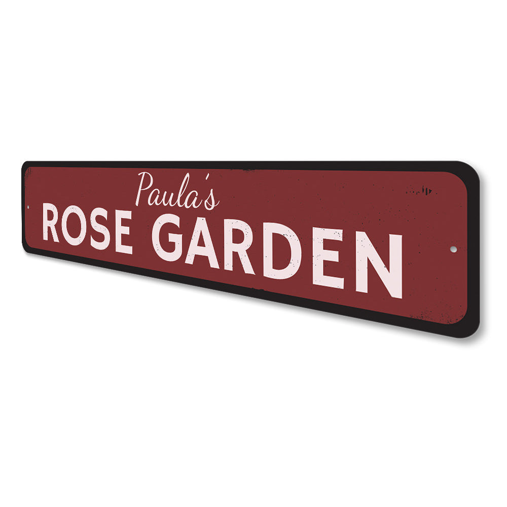 Rose Garden Sign Aluminum Sign