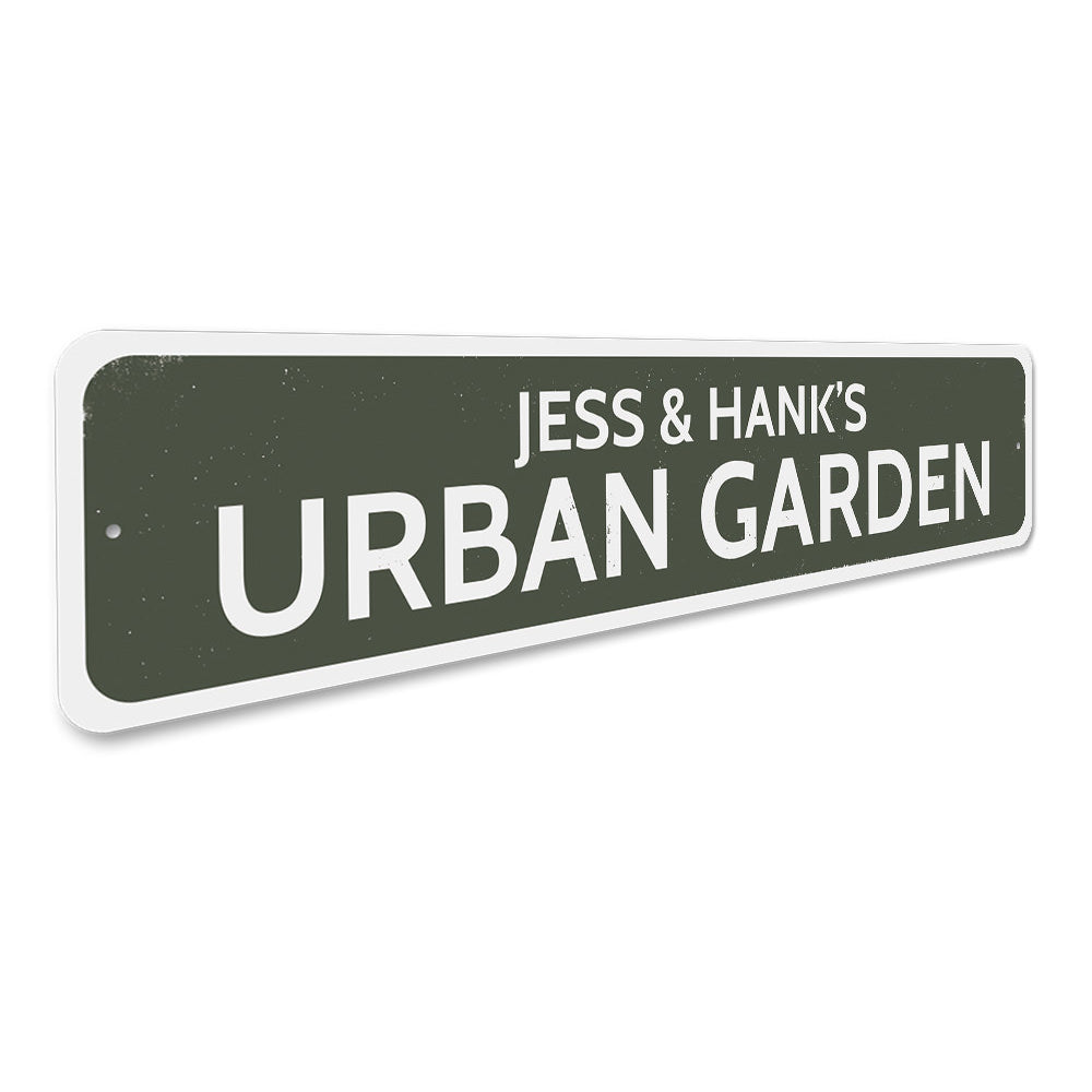 Urban Garden Sign Aluminum Sign
