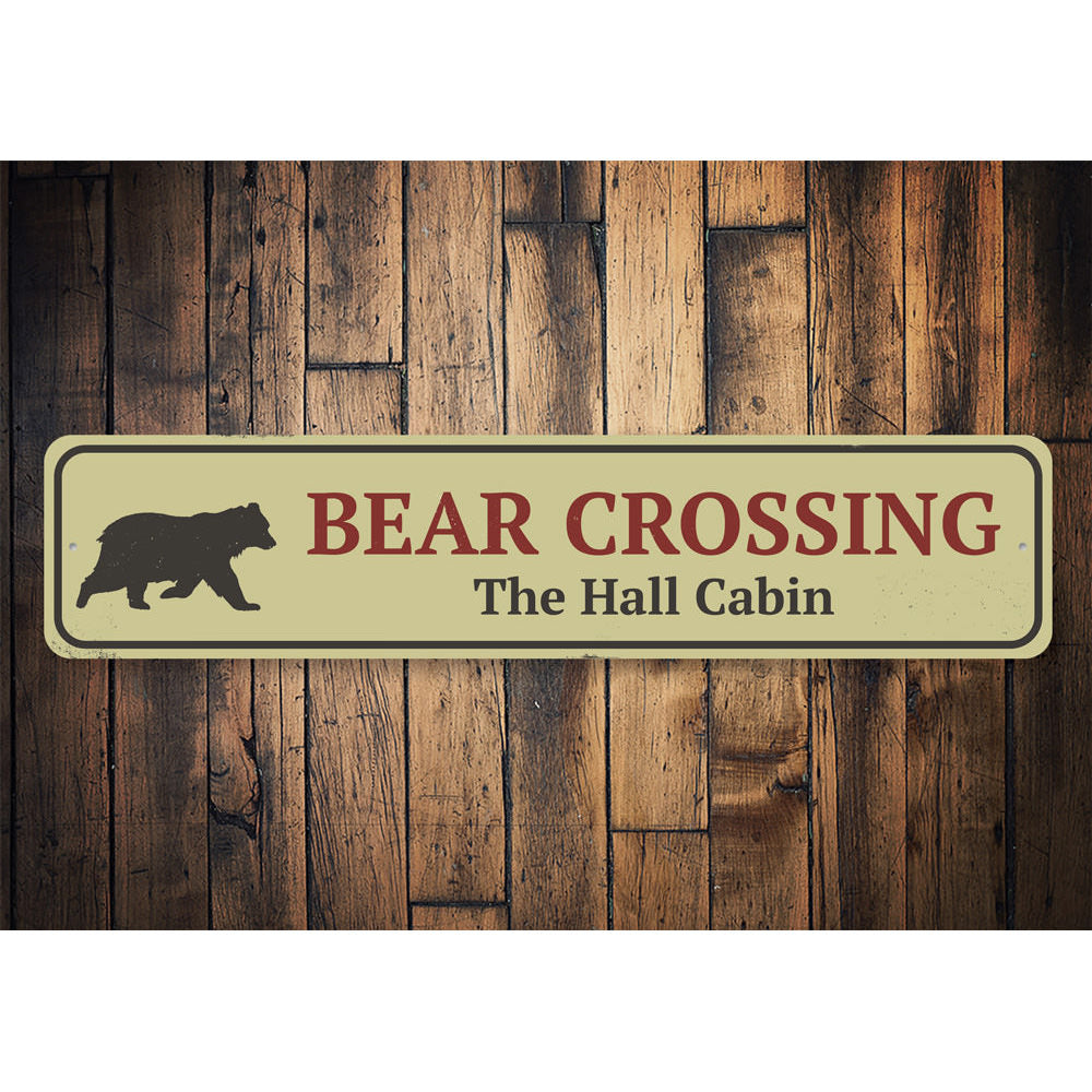 Bear Crossing Sign Aluminum Sign