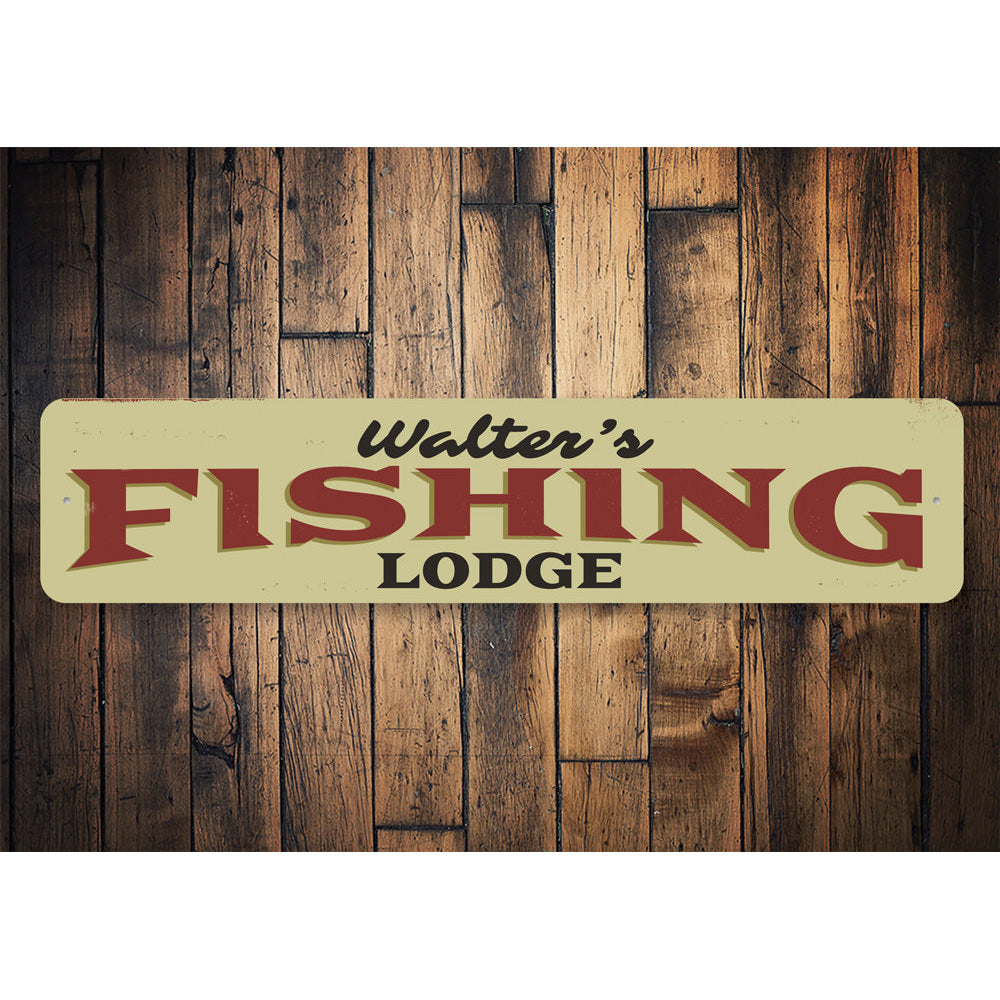 Fishing Lodge Name Sign Aluminum Sign