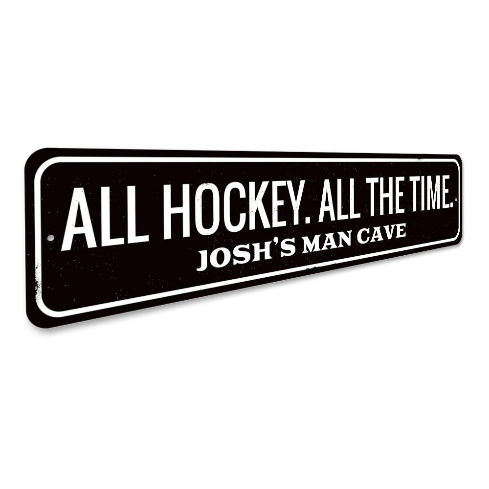All Hockey Sign Aluminum Sign