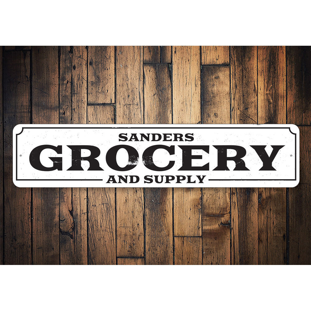 Grocery and Supply Sign Aluminum Sign