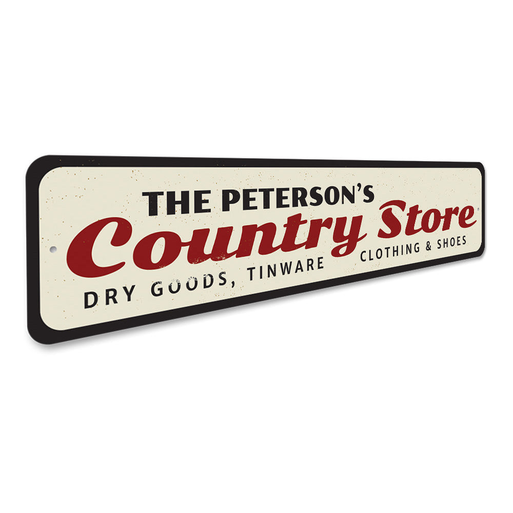 Country Store Sign Aluminum Sign