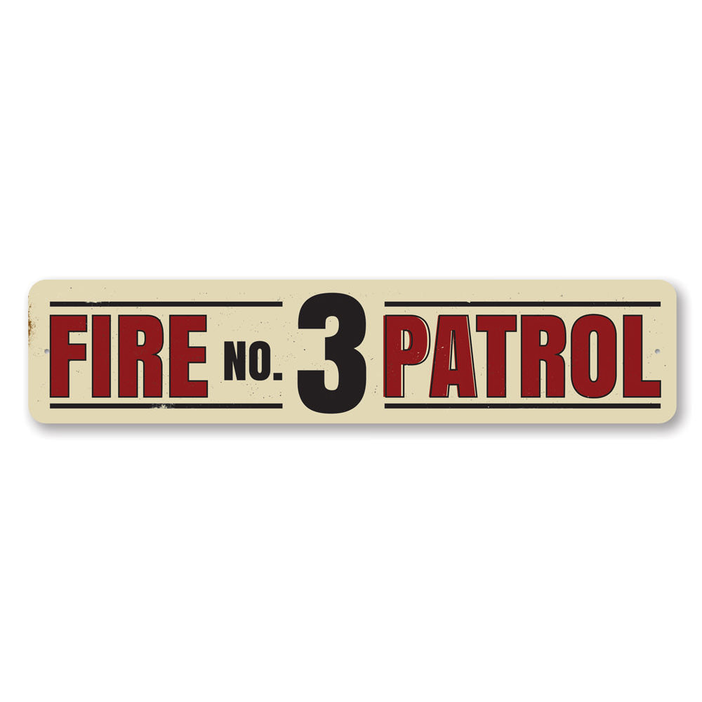 Fire Patrol Number Sign Aluminum Sign