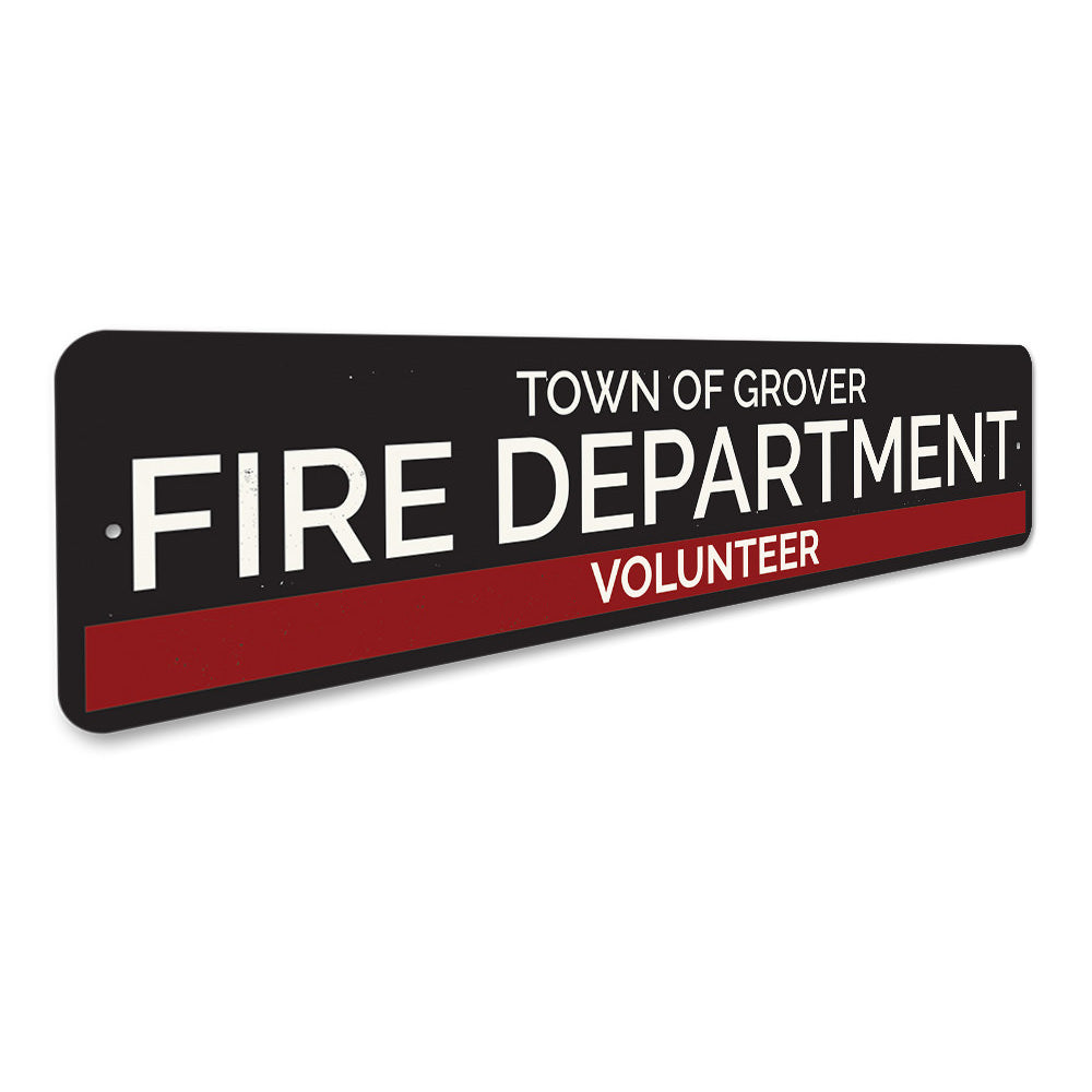 Town Volunteer Fire Department Sign Aluminum Sign