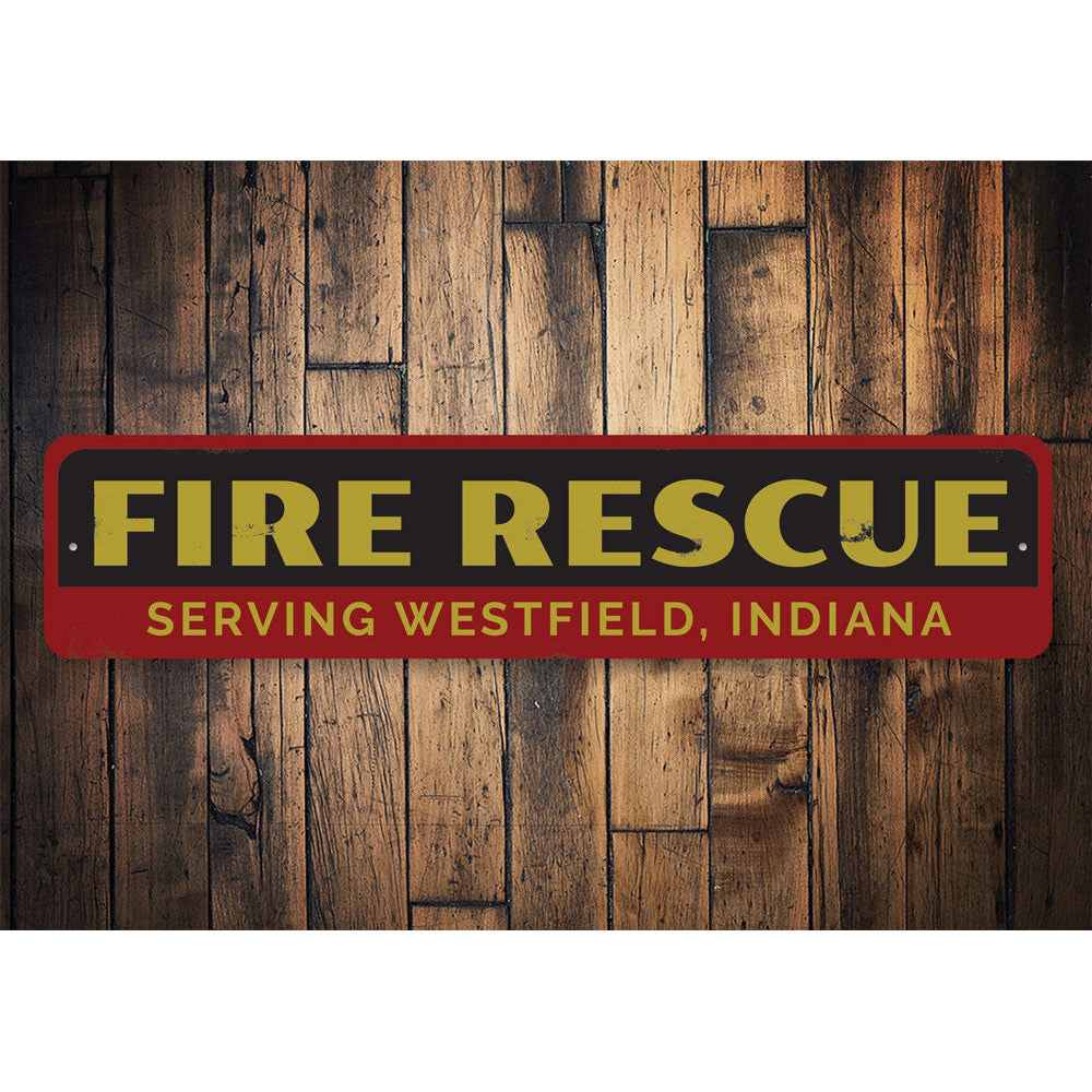 Fire Rescue Sign Aluminum Sign