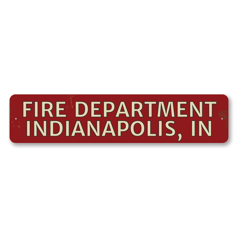 Fire Department City State Sign Aluminum Sign