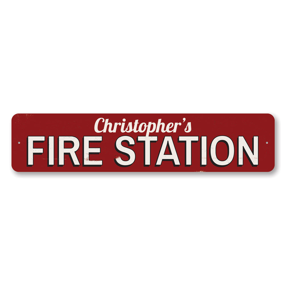 Fire Station Name Sign Aluminum Sign