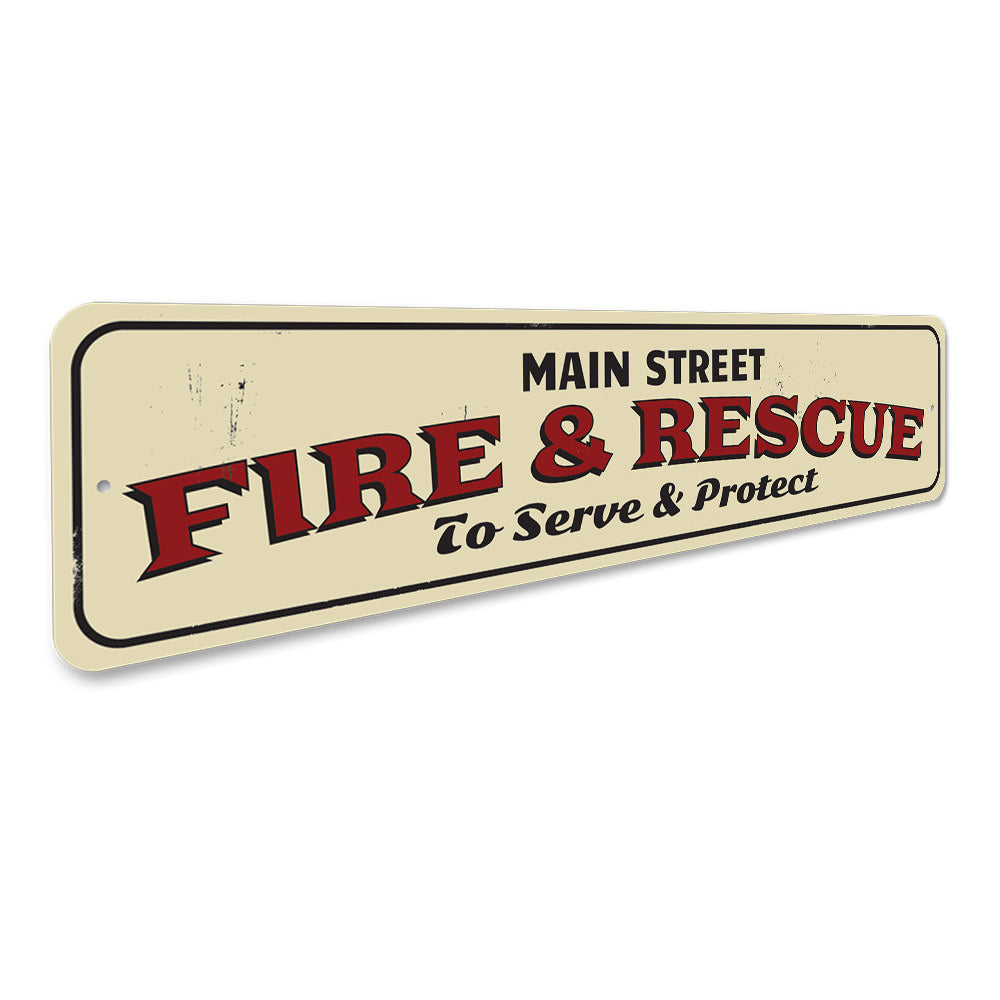 Fire & Rescue Street Name Sign Aluminum Sign