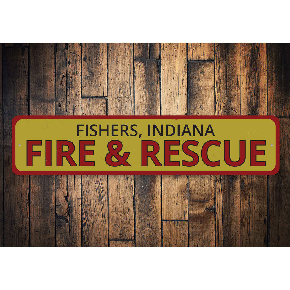 Fire & Rescue Location Sign Aluminum Sign