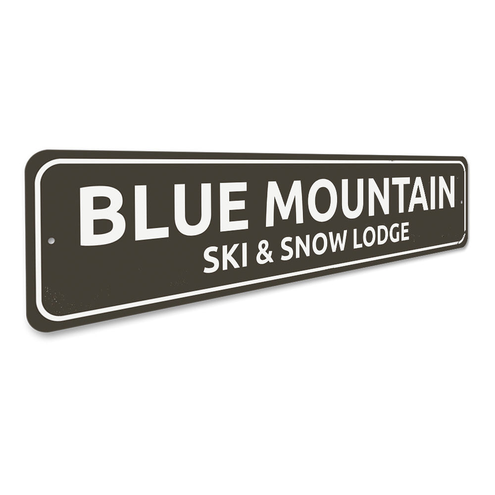 Ski & Snow Lodge Sign Aluminum Sign