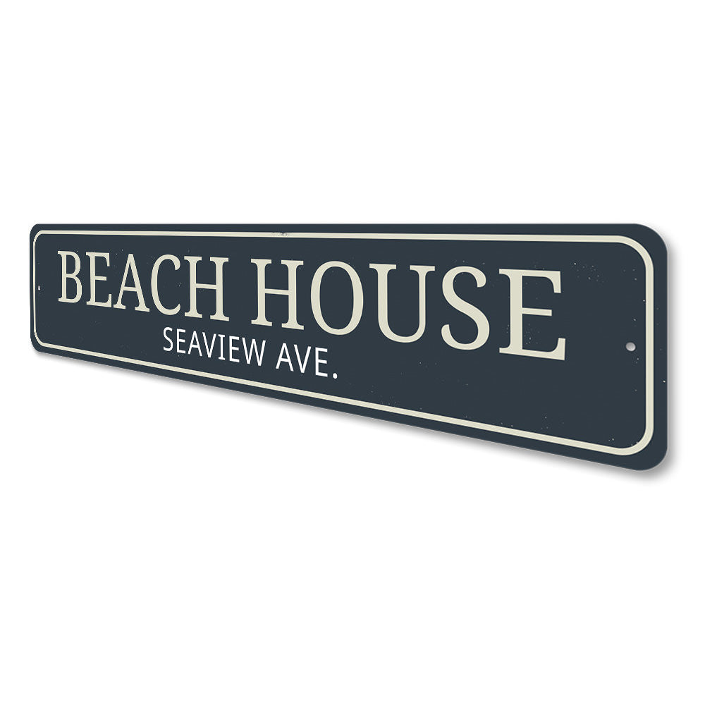 Beach House Street Name Sign Aluminum Sign