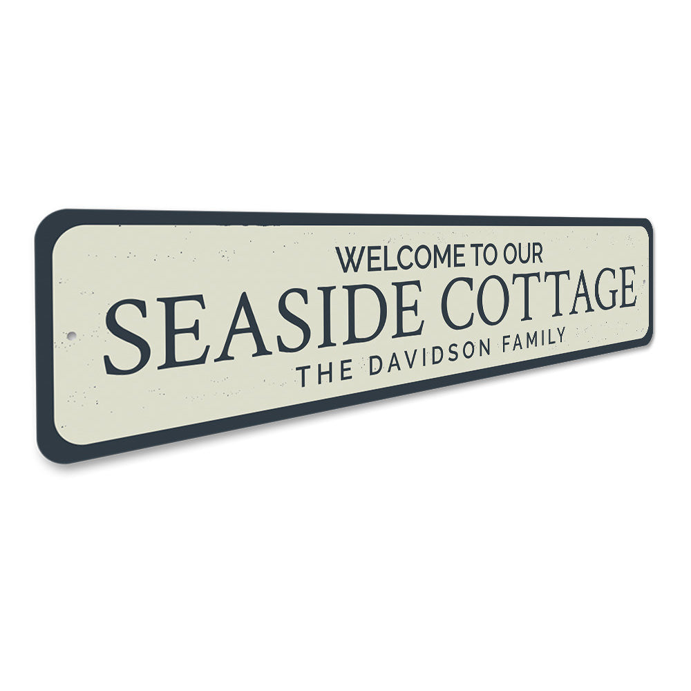 Seaside Cottage Welcome Sign Aluminum Sign