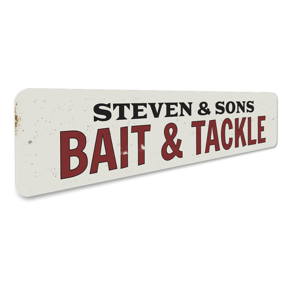 Bait & Tackle Sign Aluminum Sign