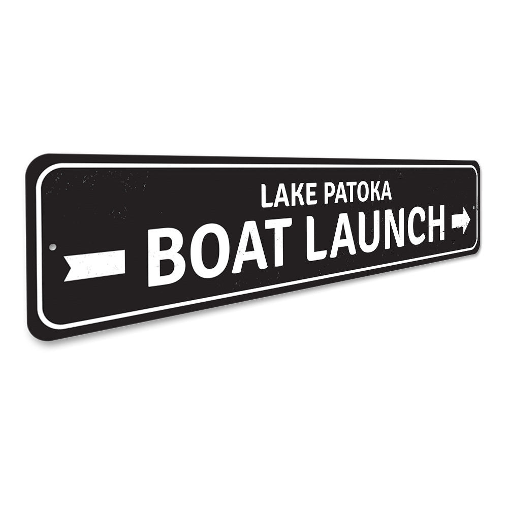 Boat Launch Arrow Sign Aluminum Sign