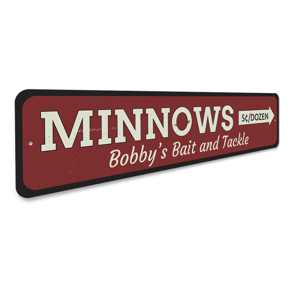 Minnows Sign Aluminum Sign