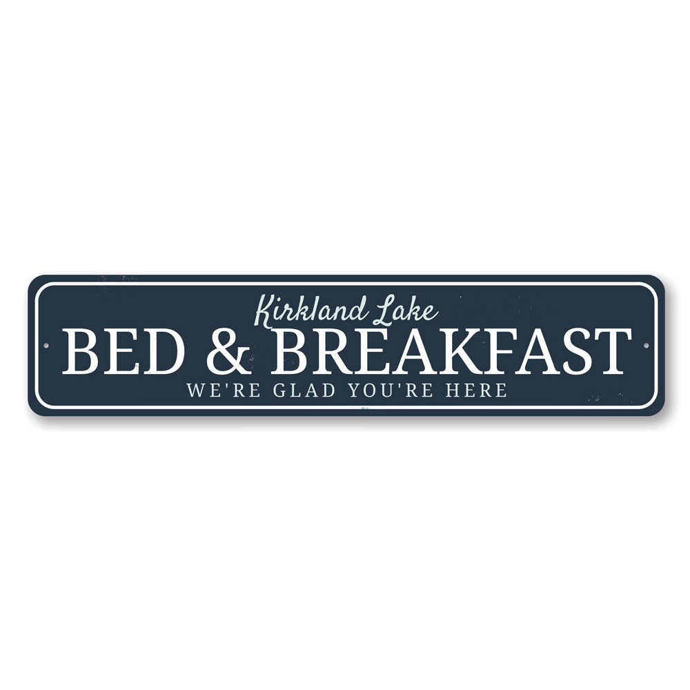 Bed & Breakfast Sign Aluminum Sign