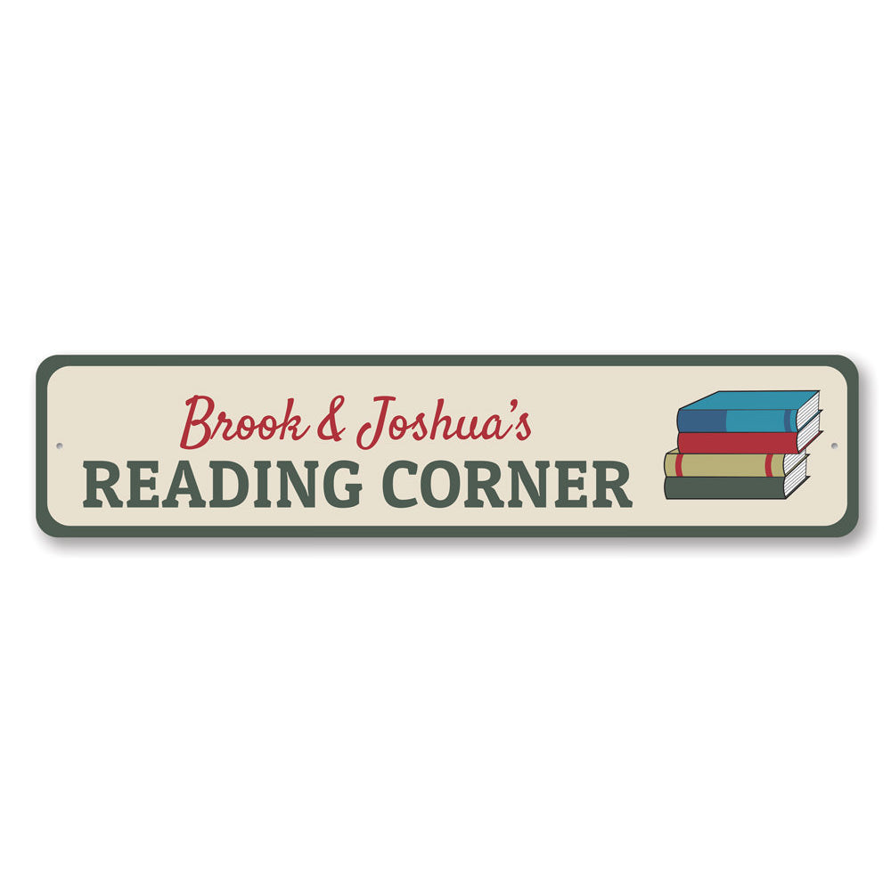 Reading Corner Sign Aluminum Sign