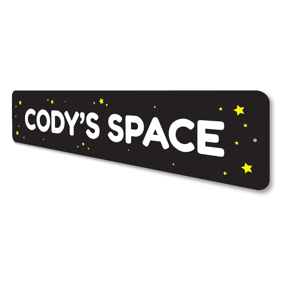 Kids Space Sign Aluminum Sign