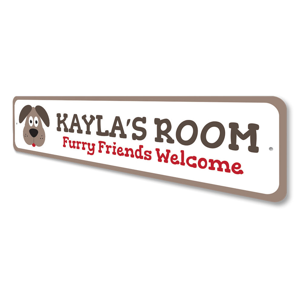 Puppy Kids Room Sign Aluminum Sign