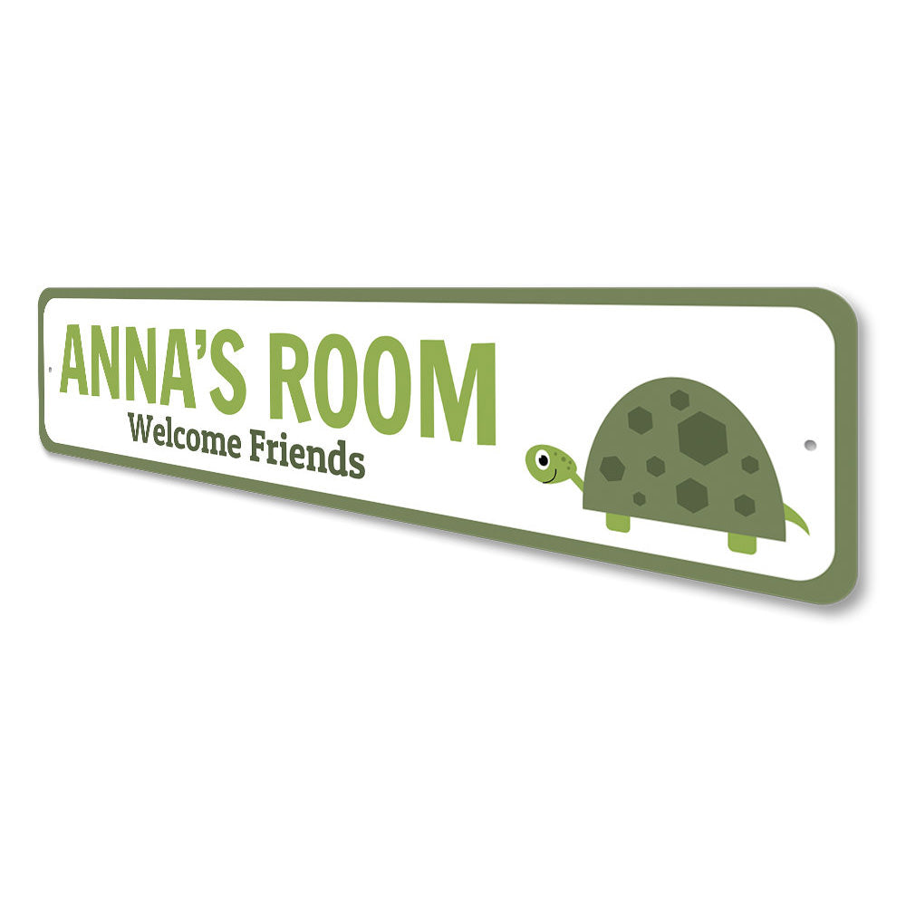 Turtle Kids Room Sign Aluminum Sign