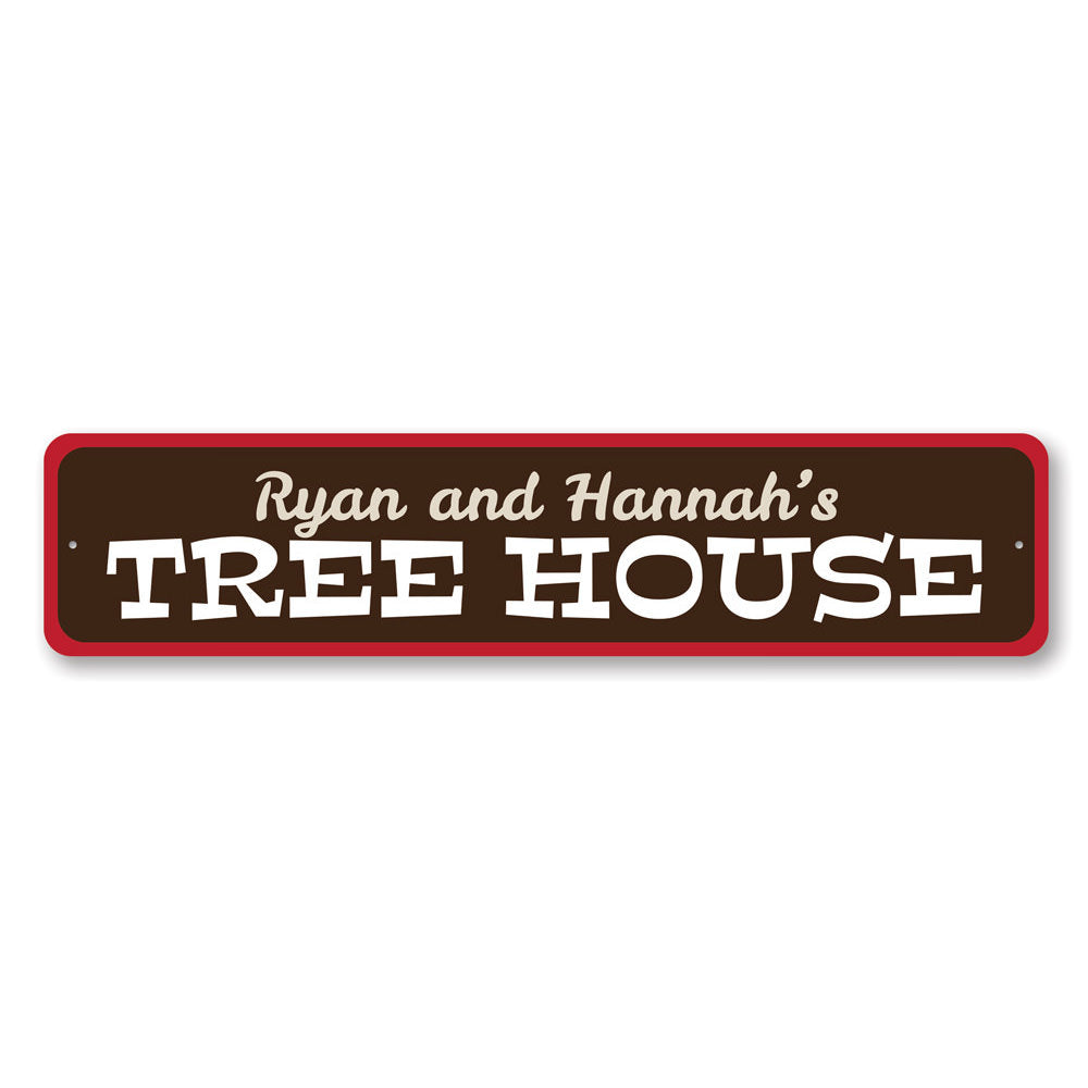 Tree House Sign Aluminum Sign