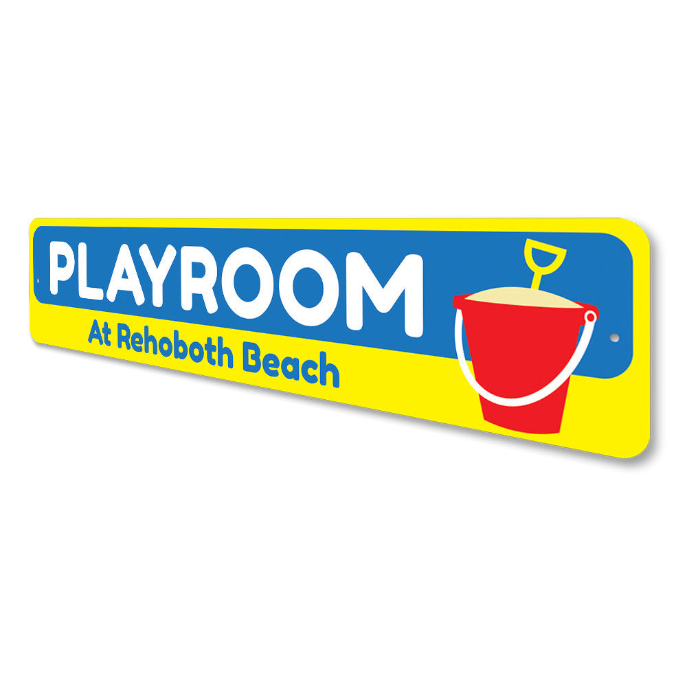 Beach Playroom Sign Aluminum Sign
