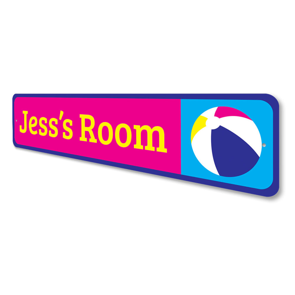 Beach Ball Kids Room Sign Aluminum Sign