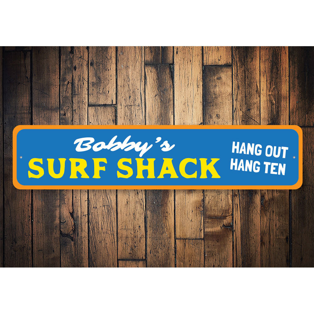 Hang Out Hang Ten Sign Aluminum Sign