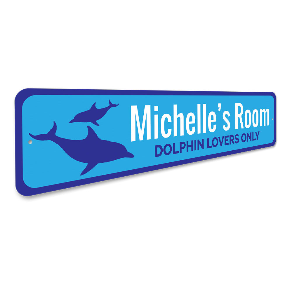 Dolphin Sign Aluminum Sign