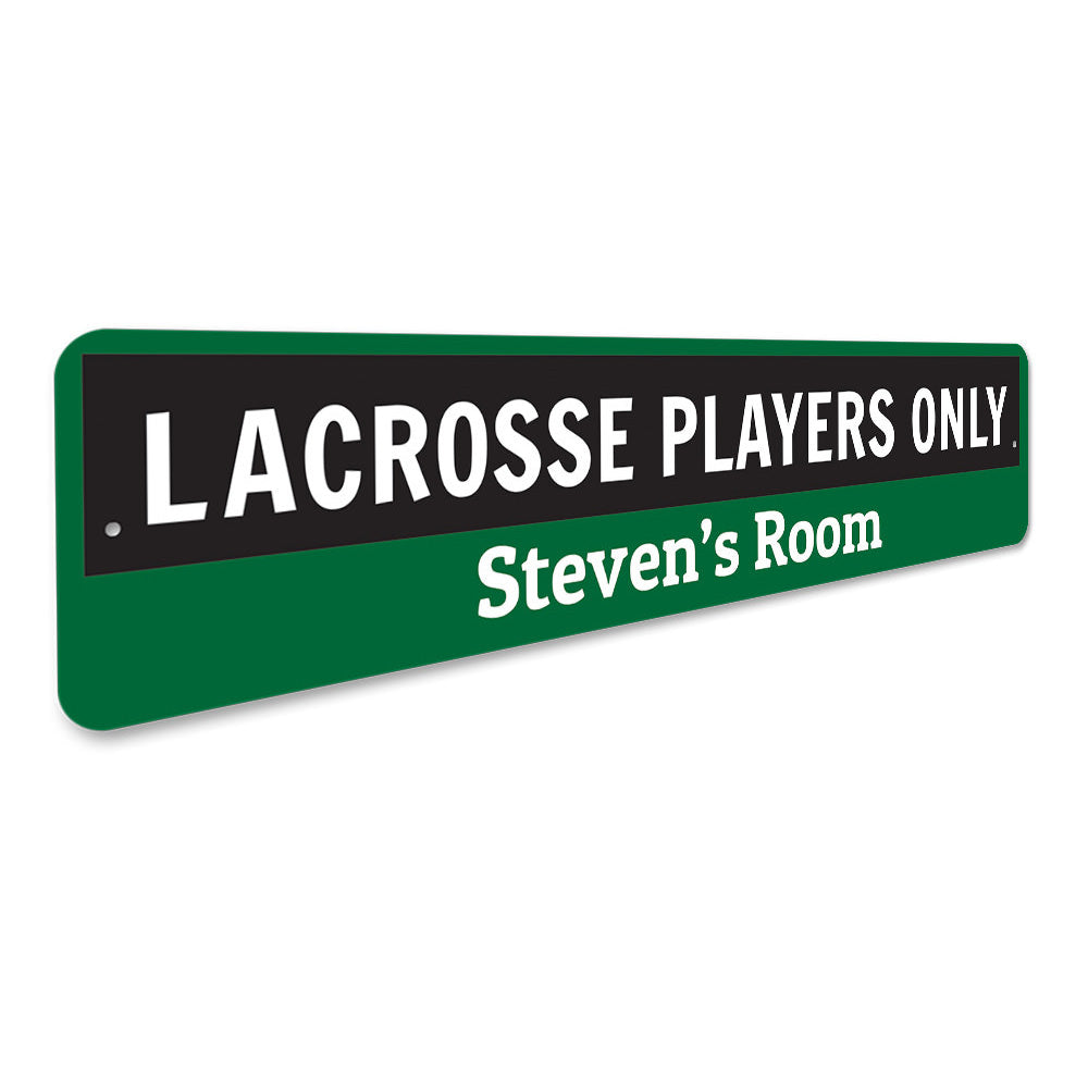 Lacrosse Sign Aluminum Sign