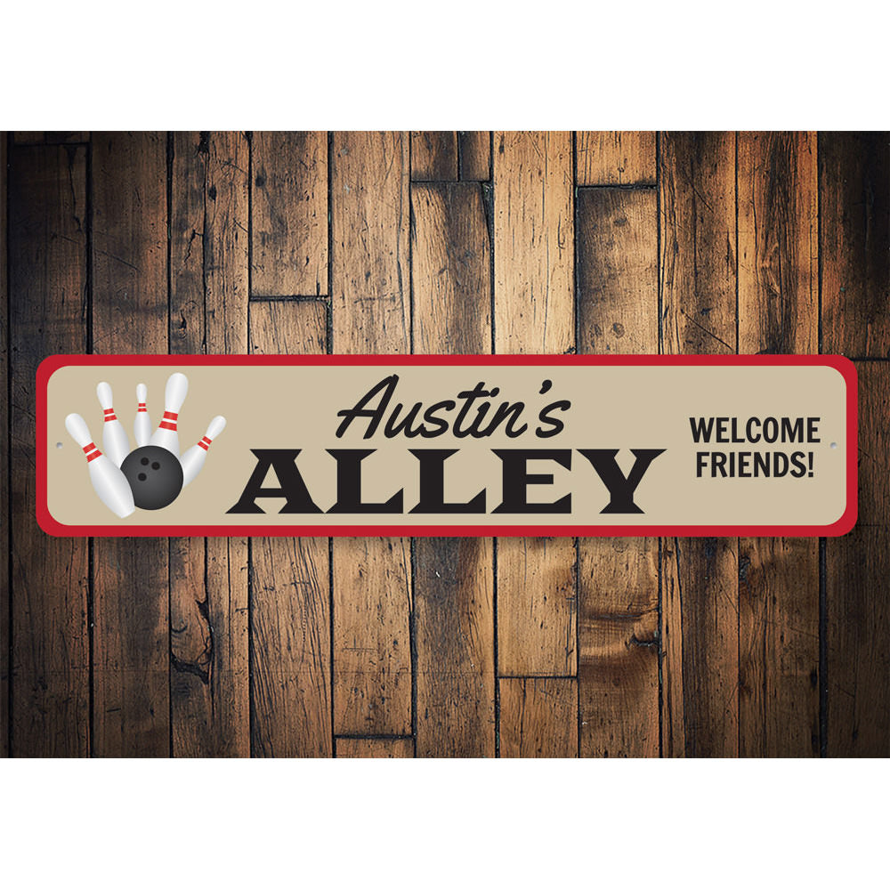 Bowling Alley Name Sign Aluminum Sign