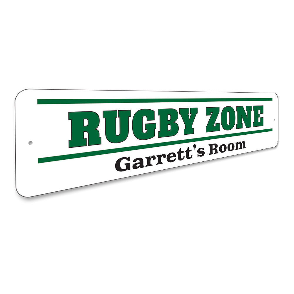 Rugby Zone Sign Aluminum Sign