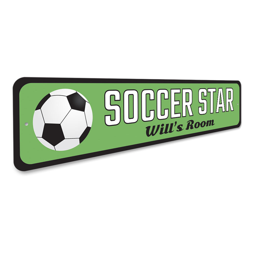 Soccer Star Sign Aluminum Sign